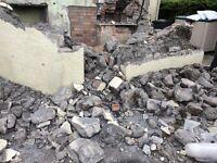 Free stone, bricks,rocks,hardcore, rubble.