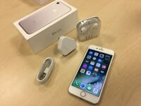 Boxed Silver Apple iPhone 7 128GB Factory Unlocked Mobile Phone + Apple Warranty