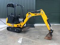 JCB 8016 Mini digger 2014, 1.6 ton Just Serviced, Only 740 hours FINANCE ARRANGED LOW RATES
