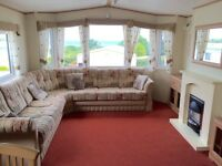 2 bed caravan with stunning view for sale including all 2016 site fees in mid-Wales