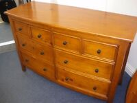 SIX DRAWER CHEST AND MATCHING BEDSIDE CABINETS