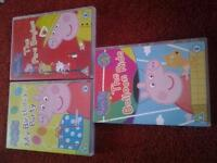 10 x Peppa Pig DVD's & DS Case for sale.