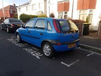 Ideal 1st car 2001 Vauxhall corsa 5 door very low miles, long mot, low insurance group, px welcome