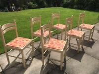 6x solid wood chairs