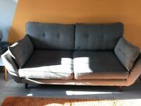 French Connection 3 seat sofa and foot stool