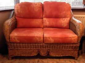 WICKER SOFA AND 2 ARM CHAIRS EXCELLANT CONDITION