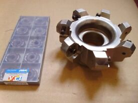 ISCAR D100-07-32 Heavy Duty 100mm face Mill C/W Brand New Iscar Inserts x10 Free Delivery