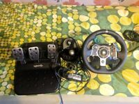 Logitech G920 Steering wheel Xbox or Swap for turntable and mixer