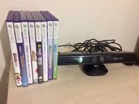 Kinect for Xbox 360 + 8 Kinect games in great condition