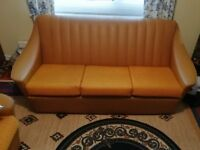 Retro 1970's sofa and 2 matching armchairs