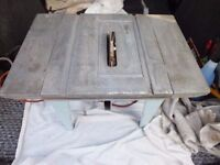 Bridges saw table with drill