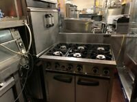 HIGH POWER GAS COOKER UNDER OVEN CATERING COMMERCIAL KITCHEN FAST FOOD SHOP