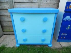 Mammut IKEA 2 tone blue chest of drawers