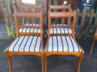 4 dining chairs,Regency style,Yew wood,carved,1 wood chair!!!!