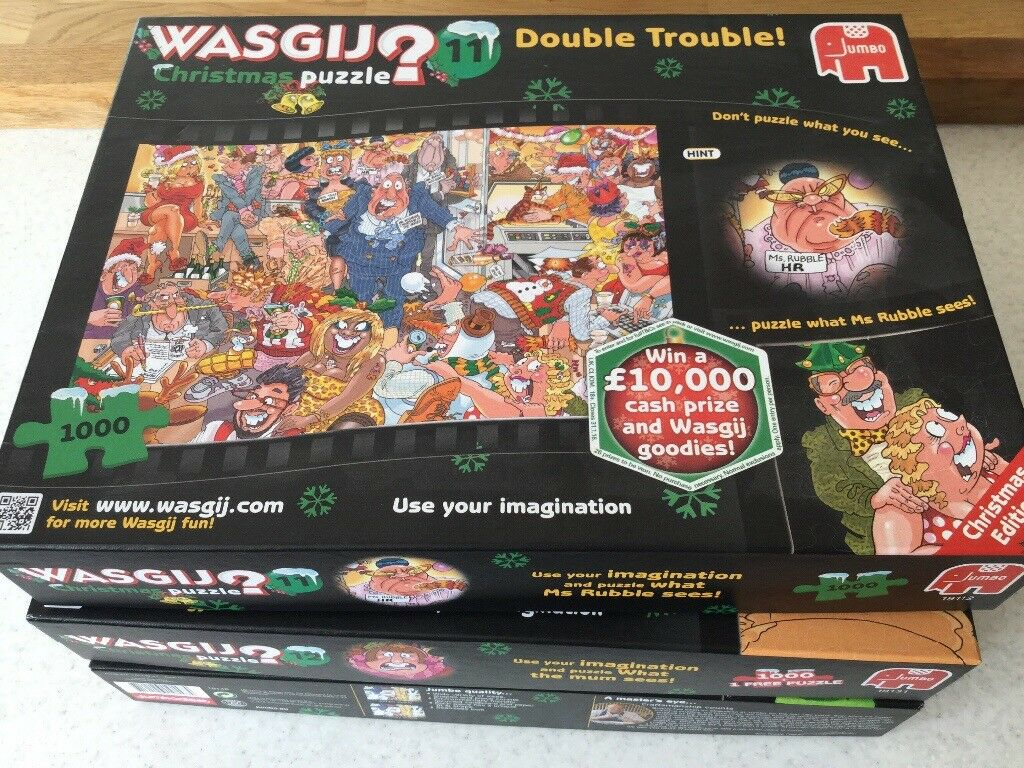 Christmas Wasgij puzzles