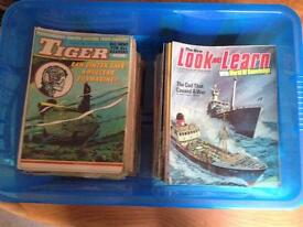 Collection of Tiger Comics & Look and Learn Magazines
