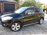 Ford Kuga Titanium TDCI 163 4WD Excellent condition Ful service history just serviced sat nav dvd...