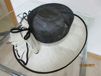 Black and cream Mother of Bride/Groom hat