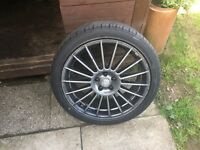 225/45/18 alloys 5x100 wheels with good tyres fit for mk4 golf bora leon