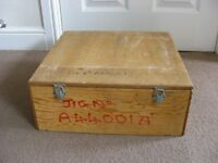 Wooden Storage Box Case Container Jig with Folding Metal Carry Handles & Catches