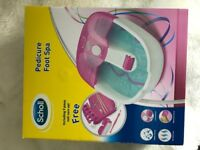Scholl foot spa + accessories - unused gift
