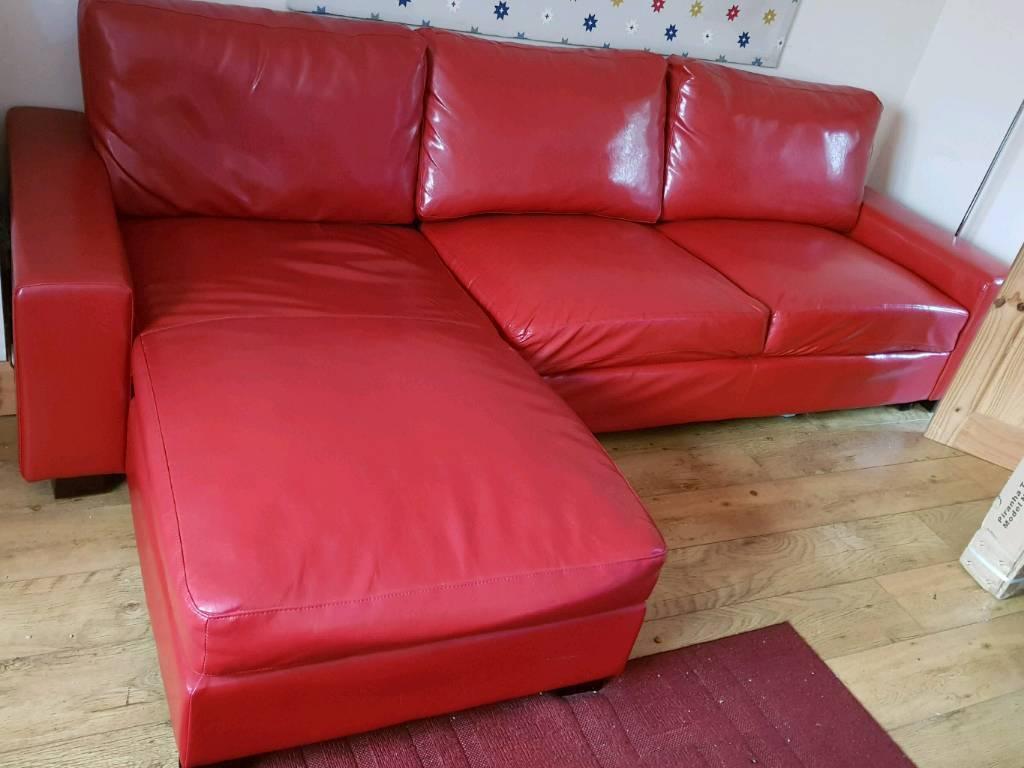 Leather chaise longue leather sofa