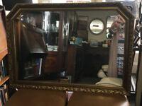 Beautiful Large Vintage Ornate Gilt Framed Over-mantle Mirror