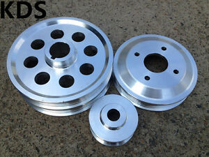 Lightweight pulley kit for Toyota Levin AE101 AE111 Corolla MR2 4age FWD 3pcs