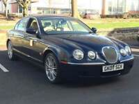 2007 JAGUAR S-TYPE 3.0 V6 * AUTO * 2 OWNERS * SAT NAV * LEATHER * CRUISE * PART EX * DELIVERY *