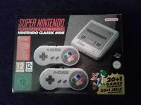Snes mini classic + 250 preloaded games BNIB