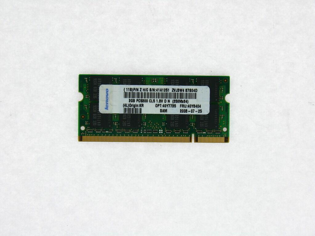 2008 2009-xxx B4 4GB KIT RAM FOR Lenovo ThinkPad T60 2007