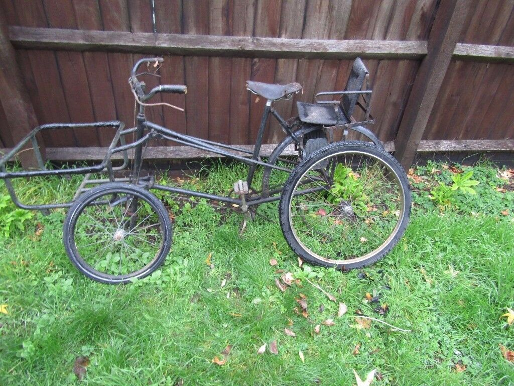 OLD VINTAGE TRADE MANS CYCLE ANTIQUE NEW TYRES NEEDS SOME RESTORATION BEDFORD LOCATION