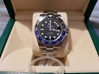 (BNIB) May Rolex GMT 2 Batman 116710BLNR