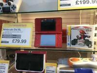 Nintendo DSI XL RED! Super Mario Bros 25th Anniversary edition BOXED with Game
