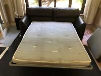 Leather double sofa bed FREE