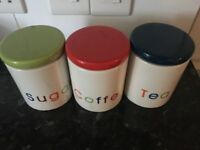 Tea , Coffe and Sugar Storage container