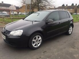 VOLKSWAGEN GOLF 1.6 FSI S 5DR PETROL 2007 BLACK! TINTED WINDOWS! NOT GOLF R, R32...