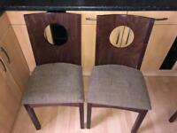4 x Solid Wood Chairs Dining