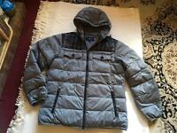 Burberry men's hoody jacket puffy full zipper size L used one time £40