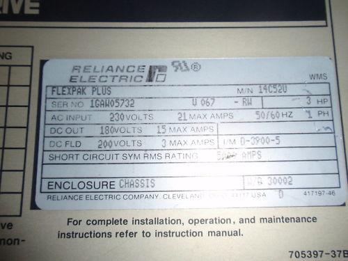 Reliance Electric Flex Pak Plus Drive 14C520