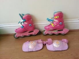 Girls Roller Skates with the shin pads for free,size 11.5