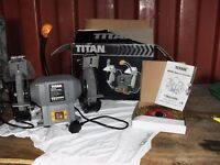 Titan 200mm twin bench grinder 2960rpm