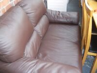 LEATHER -LOOK TWO-SEAT SOFA - NEW LOWER PRICE