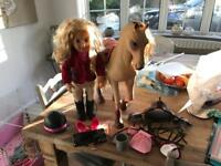 Large doll and horse