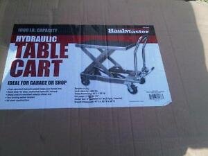 HOC  -  1000 lbs. HYDROLIC TABLE CART  + FREE SHIPPING + 30 DAY WARRANTY