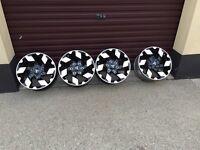 4 genuine mitsubishi 17 alloy wheels