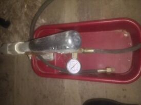 Rothenberger pressure tester RP30 used only once for underfloor heating