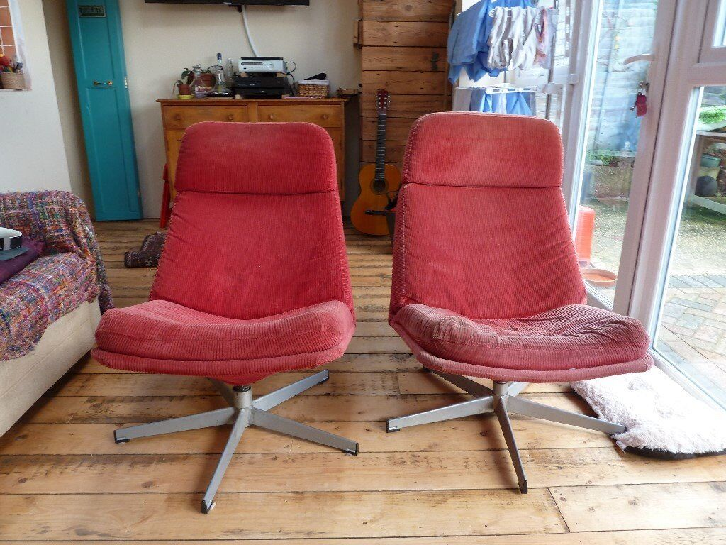vintage swivel chairs retro cord swivel chairs ikea in poole dorset 3259