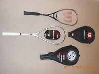 Wilson Titanium Series squash racket and cover & Unused Proserve PS 550 extreme strength XS racket