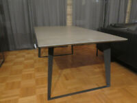 Scandinavian Style Concrete Dining Table and Console Table (black frame)